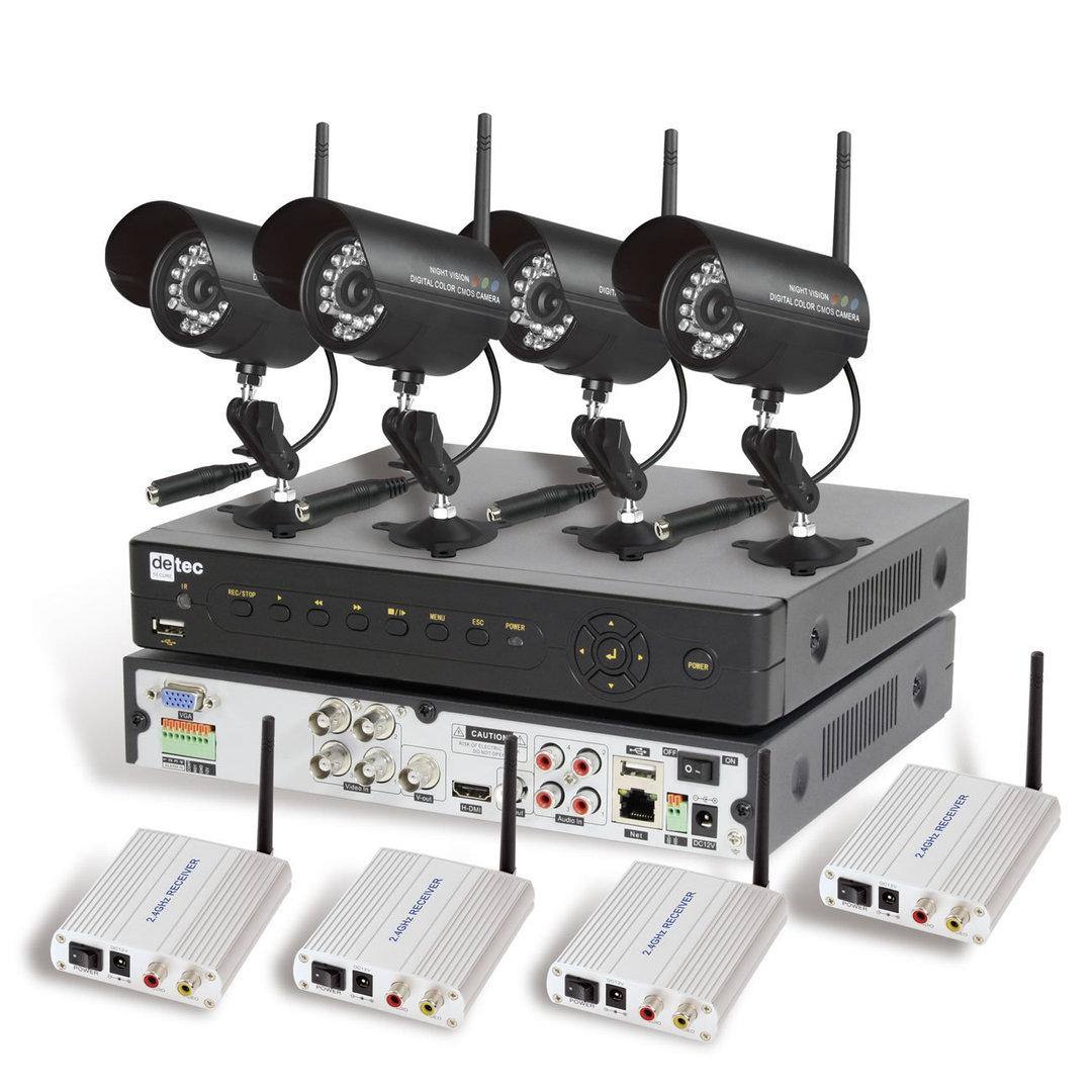 detec secure 4 kanal funk kamera set ecoline. Black Bedroom Furniture Sets. Home Design Ideas
